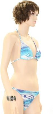 eleMar Trend Bikini Tankini Badeanzug Schwimmanzug Bademode Bügel Push Up Sommer Elemar Bikini ´´Tanja´´ lagune / weiß / mint Gr.40