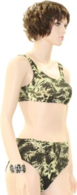 eleMar Trend Bikini Tankini Badeanzug Schwimmanzug Bademode Bügel Push Up Sommer Elemar Bikini ´´Kirsten´´ oliv / natur Gr. 42