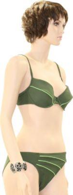 eleMar Trend Bikini Tankini Badeanzug Schwimmanzug Bademode Bügel Push Up Sommer Elemar Bikini ´´Sandra´´ oliv / kiwi Gr.42