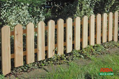8x Steckzaun 120 x 30 cm Gartenzaun Holz Zaun B...