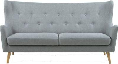 PKline Sofa in hellgrau Retro Couch Dreisitzer ...