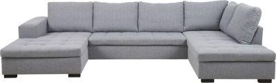 Wohnlandschaft Eckcouch Couch Chaiselounge Ecksofa Wohnzimmer grau