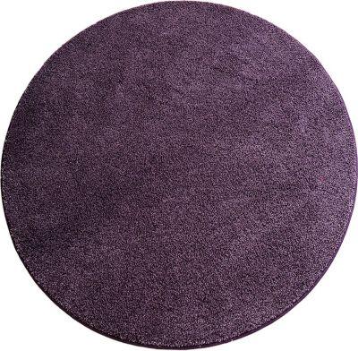 Hochflor Shaggy Teppich Florenz lila 80 cm rund