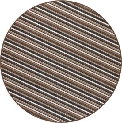 Schlingen Teppich Chipmunk Rund 200 cm rund braun