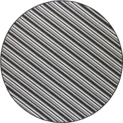 Schlingen Teppich Chipmunk Rund 200 cm rund grau