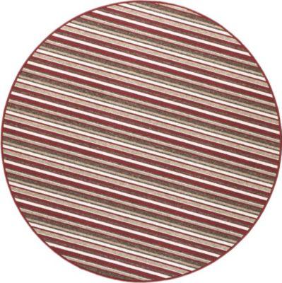 Schlingen Teppich Chipmunk Rund 200 cm rund rot