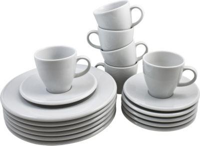Kaffeeservice Novo rund, Porzellan, weiß, 18-teilig (1 Set)