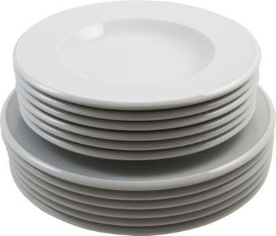 Tafelservice Novo rund, Porzellan, weiß, 12-teilig (1 Set)