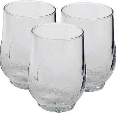 06723 ´´Aspen´´ Saftbecher Trinkglas ´´Aspen´´, Glas, 330ml, transparent (3er Pack)
