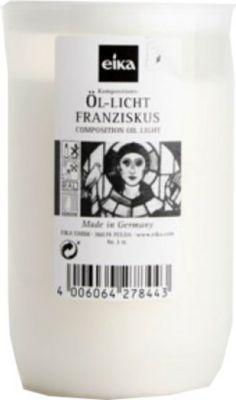 Eika Franziskus Grablicht, Kompositions-Öllicht, Ø 5,8x9,5cm, weiß (1 Stück)