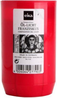 Eika Franziskus Grablicht, Kompositions-Öllicht, Ø 5,8x9,5cm, rot (1 Stück)