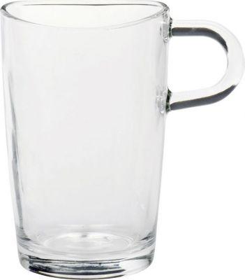 043366 Latte Macchiato Tasse mit Henkel ´´Loop´´, Glas, 400ml, H 12,4cm, transparent (1 Stück)
