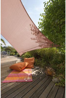 SunSail Sonnensegel ADRIA´´, 158 g/m², Quadrat, 5x5m, terracotta (1 Stück)´´