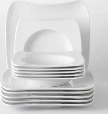 Tafelservice ´´Sandy´´, Porzellan Form 2005, weiß, 12-teilig (1 Set)