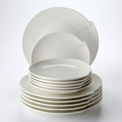 Tafelservice ´´Julie´´, Vitroporzellan, elfenbein, 12-teilig (1 Set)