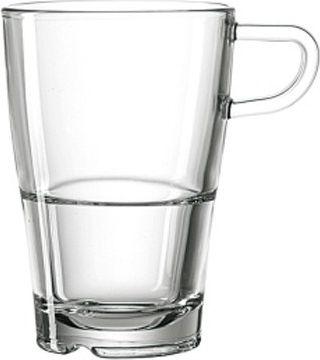 024014 Latte Macchiato Tasse ´´Senso´´, 230ml, stapelbar, Glas, transparent (1 Stück)