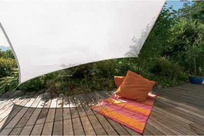 SunSail Sonnensegel ADRIA´´, 185g/m², Quadrat, 5x5m, weiß (1 Stück)´´