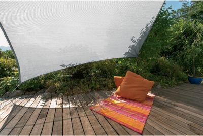 SunSail Sonnensegel ADRIA´´, 185g/m², Quadrat, 5x5m, granit (1 Stück)´´