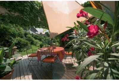 SunSail Sonnensegel ADRIA´´, 185g/m², Dreieck, 5x5x5m, schilf´´