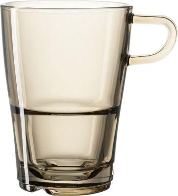 049681 ´´Senso´´ Leonardo 049681 Latte Macchiato Tasse ´´Senso´´, 230ml, stapelbar, Glas, marrone/transparent (1 Stück)