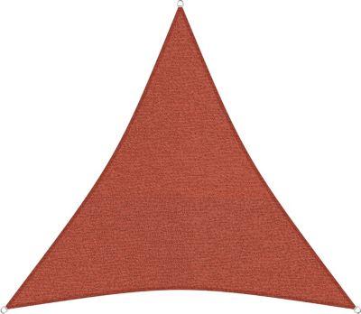 sunprotect 83217 Professional Sonnensegel, 3,6 x 3,6 m, Dreieck, wind- &amp wasserdurchlässig, rot | Garten > Sonnenschirme und Markisen > Sonnensegel | Sunprotect