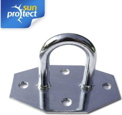 sunprotect SPT83207 Montage Zubehör für Sonnensegel, Wandöse, verzinkt (1 Stück) | Garten > Sonnenschirme und Markisen > Sonnensegel | Stahl | Sunprotect