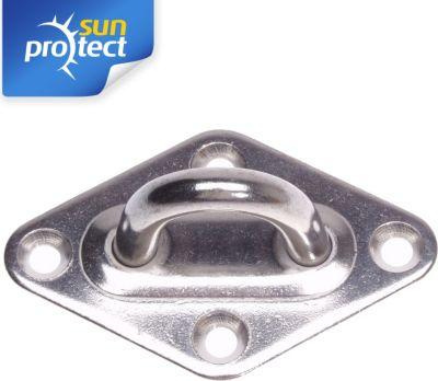 sunprotect SPT83206 Montage Zubehör für Sonnensegel, Wandöse, edelstahl (1 Stück) | Garten > Sonnenschirme und Markisen > Sonnensegel | Edelstahl | Sunprotect