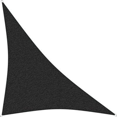 sunprotect 83444 Professional Sonnensegel, 5 x 5 x 7 m, 90° Grad Dreieck, wind- &amp wasserdurchlässig, schwarz | Garten > Sonnenschirme und Markisen > Sonnensegel | Sunprotect