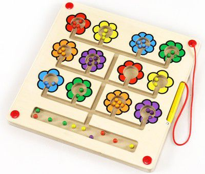 eduplay-magnetspiel-blumen-quadratisch-bunt-1-stuck-