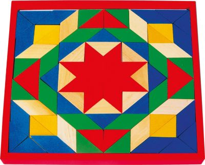 Goki 1038 Mosaik aus Holz, mehrfarbig, 80-teilig (1 Set)