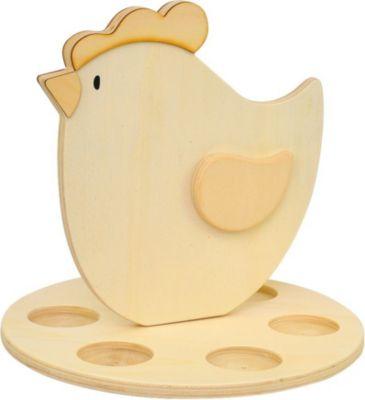 210-169 Teelichthalter Eiernest aus Holz für 6 Teelichter, natur (1 Stück)