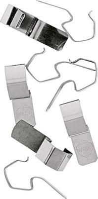 90552 Klammern für Rundrandgläser aus 100% rostfreiem Federstahl, silber (8 Stück)