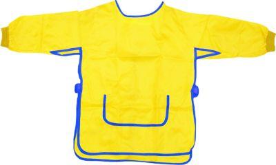 EDUPLAY 240-062 Malkittel für Kinder, Universalgröße aus 100 % Polyester, gelb (1 Stück)