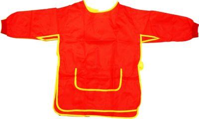 EDUPLAY 240-063 Malkittel für Kinder, Universalgröße aus 100 % Polyester, rot (1 Stück)