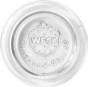 807617 Deckel für Weck-Gläser, Ersatzdeckel, Glas, Ø 60mm, klar (1 Stück)