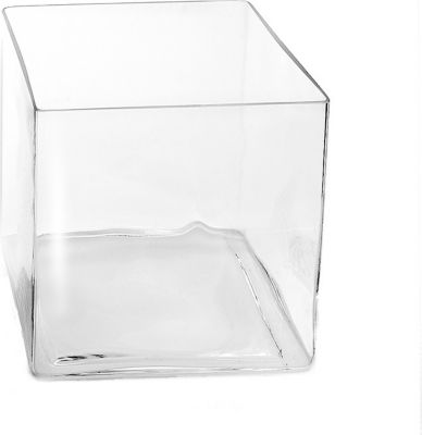 Sandra Rich 2020 20  Cube  Vase   Windlicht  Cube  Würfel aus Glas  eckig  Ø 20 x 20 cm  transparent  1 Stück