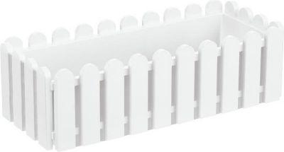 Emsa  095-6501200   Blumenkasten LANDHAUS, Kunststoff PP, 50x20x16cm, weiß (1 Stück)