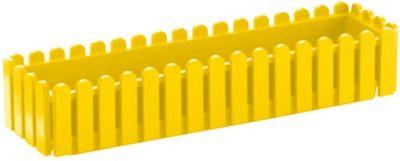 Emsa  508-694 Blumenkasten LANDHAUS, Kunststoff PP, 75x20x16cm, gelb (1 Stück)