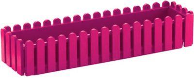Emsa  508-696 Blumenkasten LANDHAUS, Kunststoff PP, 75x20x16cm, pink (1 Stück)