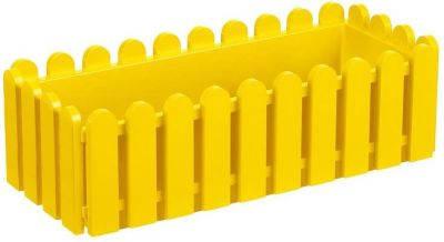 Emsa  506-415 Blumenkasten LANDHAUS, Kunststoff PP, 50x20x16cm, gelb (1 Stück)