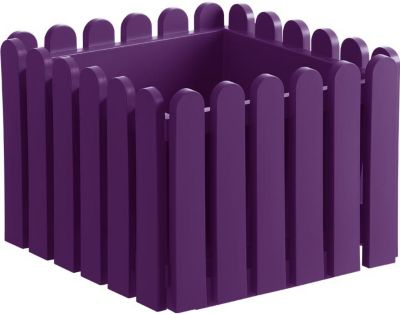 "Emsa  508-746 ""LANDHAUS"" Blumenkübel / Blumentopf LANDHAUS, Kunststoff PP, 38x38x31cm, violett (1 Stück)"