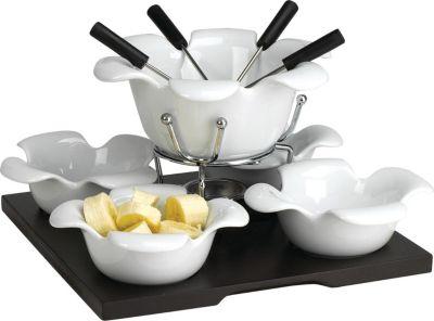 Domestic 923530 Spezialitäten-Schoko Fondueset, weiß, 11-teilig (1 Set) | Küche und Esszimmer > Küchengeräte > Fondue | DOMESTIC