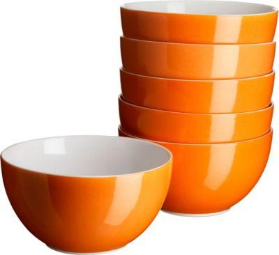 domestic-927225-swoon-muslischale-14cm-porzellan-orange-6er-pack-