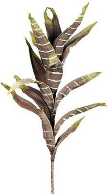 Schaumblume / Kunstblume ´´Riesen-Palm Lilie´´, 100 cm, grün &amp creme (1 Stück)