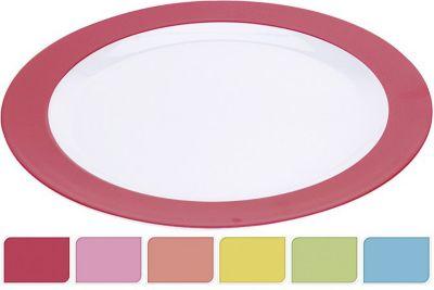 Teller flach Melamin, Ø 26 cm (Farbe zufällig, 1 Stück)