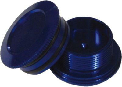 Aluminiumabdeckungen für Hollowtech II, eloxiert, blau (1 Stück)