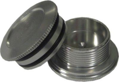 Aluminiumabdeckungen Hollowtech II eloxiert, silber (1 Stück)