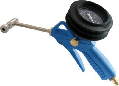 Reifenfüllpistole mit Manometer, Alligator für SV/AV, bis 10 bar/145 psi, blau/schwarz/silber (1 Stück)