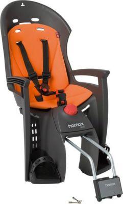 Hamax Kindersitz Siesta, Befestigung Rahmenrohr, abschließbar, grau/orange (1 Stück)