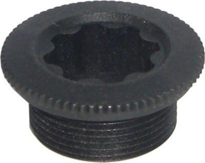 Y1F811100 Kurbelbefestigungsschraube für Hollowtech II-Kurbelgarnitur, schwarz (1 Stück)